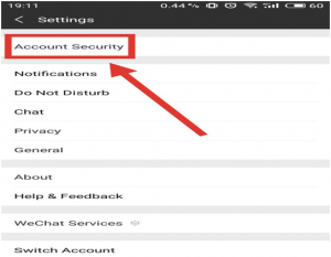 wechat account security