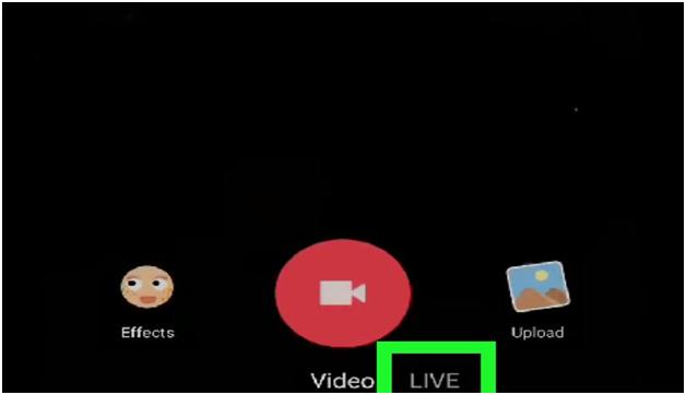 Click the Live optio