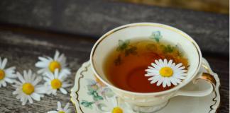 9.Chamomile tea