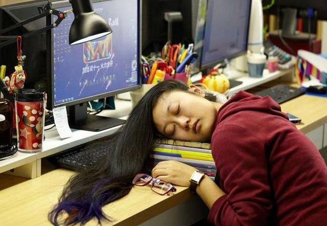 Chinese working hard
