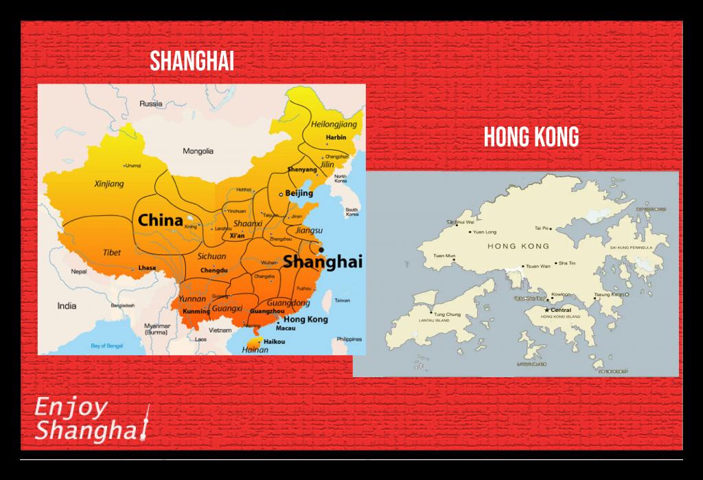 Shanghai vs Hong Kong: Location